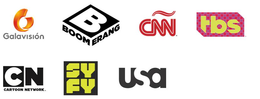 galavision, Boomerang TV Channel, CNN, TBS, Cartoon Network